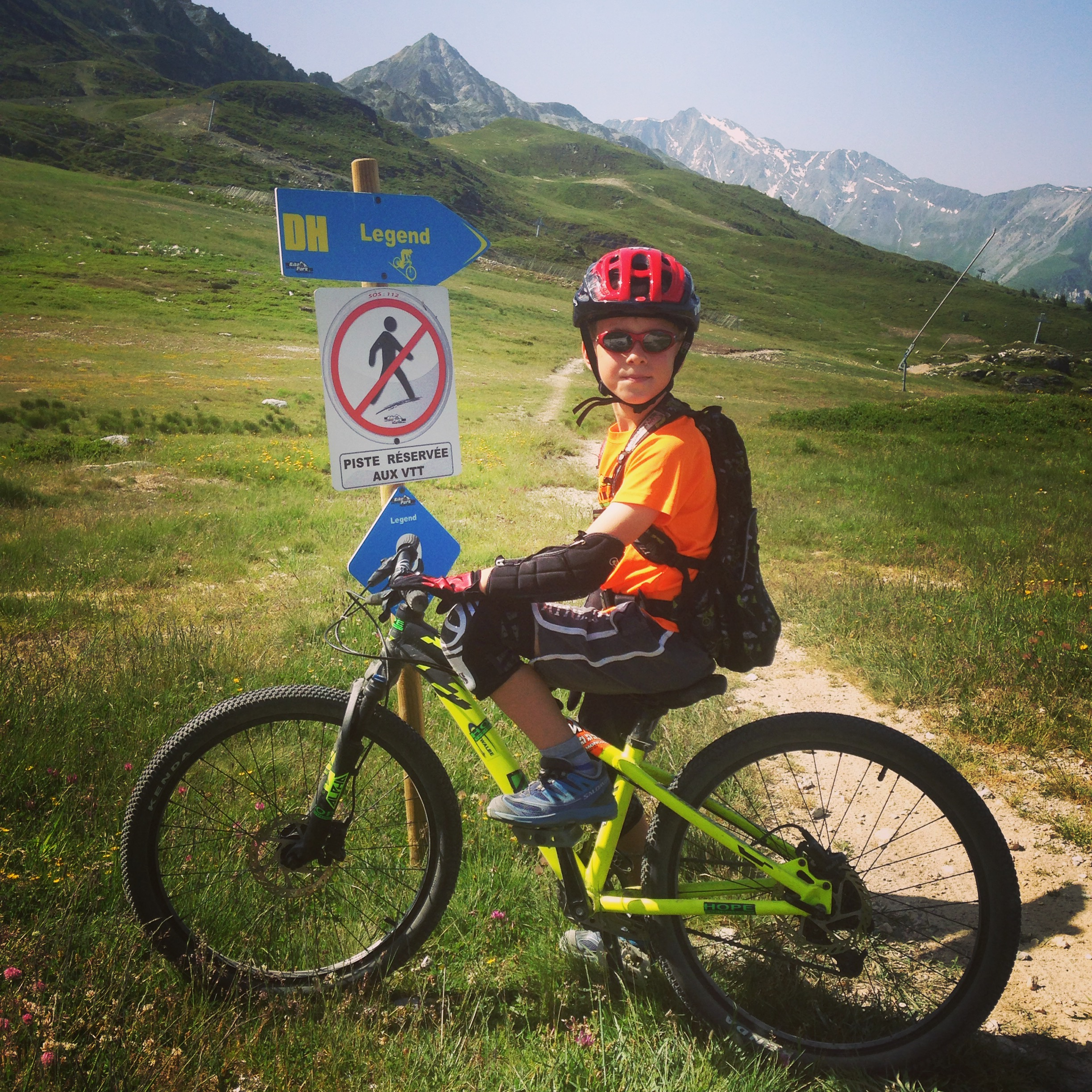 hitting Les Arcs during a mountain biking holiday in the Alps