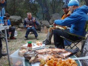 fresh BBQ trout for race power and, er fishyness