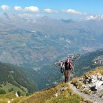 Panorama above les Arcs with Bikevillage mountain bike holidays in the french alps